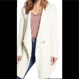 NWT 1. STATE SWEATER Furry Ivory Poodle M